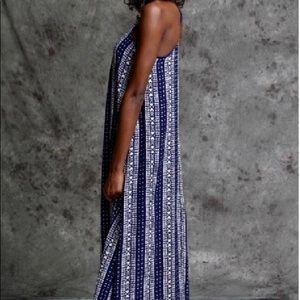 Ya Los Angeles Maxi Dress Blue Medium